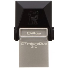 USB Flash Kingston DataTraveler MicroDuo OTG USB 3.0 64Gb Black
