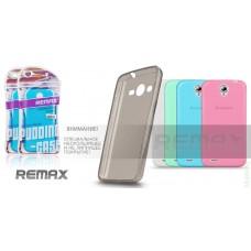 Чехол-накладка Ultra Thin Silicon Remax 0.2 mm Samsung G350 Black.White