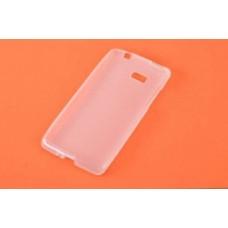 Накладка для Htc Desire 600 силиконовая белая полу-прозрачная