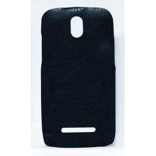 Кожаная накладка для Htc Desire 500 Kuboq черный