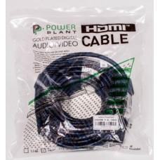 Видeo кабель PowerPlant HDMI - HDMI, 5m, позолоченные коннекторы, 1.4V, Nylon, Double ferrites