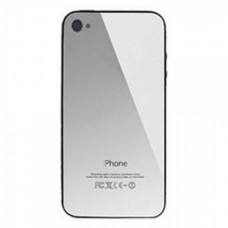 Back Cover for iPhone 4 Silver Mirror no logo