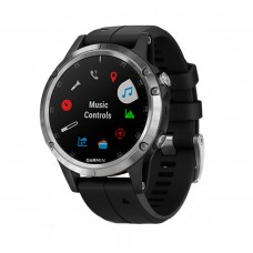 GARMIN Fenix 5 Plus Silver with Black Silicone (010-01988-60)