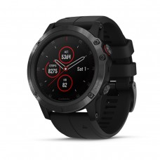 GARMIN Fenix 5x Plus Sapphire Black with Black Silicone (010-01989-64)