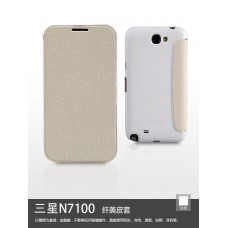 Книжка Yoobao Slim leather case for Samsung N7100 Galaxy Note 2, white LCSAMN7100-SWT