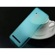 Накладка силиконовая Tpu Blackview A5 голубая тех. пак.