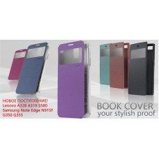 Книжка Book Cover Mobiking with Window Lenovo A319 White