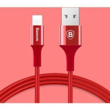 Baseus Usb Cable to Lightning Shining Jet Metal 1m Red (CALSY-09)