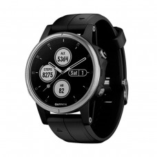 GARMIN Fenix 5s Plus Silver with Black Silicone (010-01987-63)