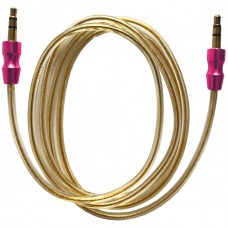 AUX-Кабель 3.5x3.5/Golden Wire/VIP-Metall Jack/1m. Crimson-Red