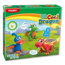 Маса для ліплення Paulinda Super Dough Cool Dragon Дракони 3 в 1 PL-081554