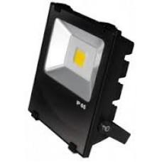 Прожектор Led Euroelectric Cob черный с радиатором 30W 6500K modern