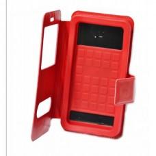 Чехол книжка Универсальная slider с силиконом 4.5 красный
