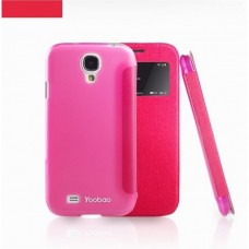 Чехол книжка Samsung i9500 Galaxy S IV Yoobao Slim II Leather case rose LCSAMS4-SRS-II