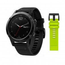 GARMIN Fenix 5 Sapphire Black with Black  Yellow Silicon Bands (010-01688-11/67)