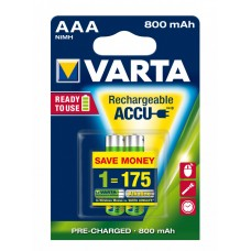 Аккумулятор VARTA RECHARGEABLE ACCU AAA 800mAh BLI 2 NI-MH (READY 2 USE) R3