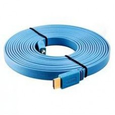 3 метровый кабель Hdmi плоский синий лазурный