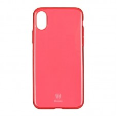 Baseus OR Simple Series Case For iPhone X Clean Tpu Transparent Red B09