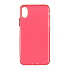 Baseus OR Simple Series Case For iPhone X With Pluggy Tpu Transparent Red A09