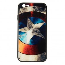 IPaky Glass Print for iPhone 7 Plus Captain America