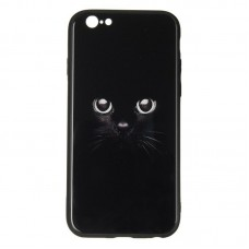 IPaky Glass Print for iPhone 7 Plus Cat