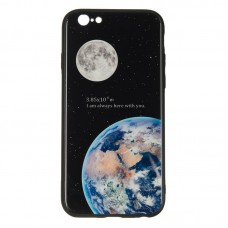 IPaky Glass Print for iPhone 7 Plus Earth