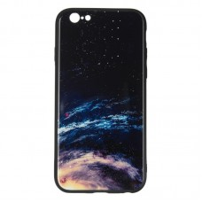 IPaky Glass Print for iPhone 7 Plus Space