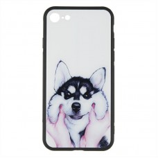 IPaky Print Series for iPhone 6 Plus Cheerful Dog C08