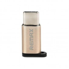 Adapter Remax OR RA-USB1 Type-C - microUSB Gold