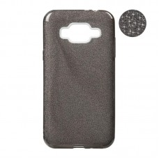 Remax Glitter Silicon Case Samsung J120 J1-2016 Black