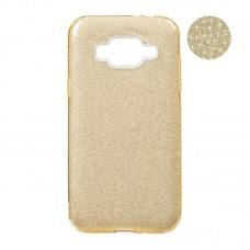 Remax Glitter Silicon Case Samsung J120 J1-2016 Gold