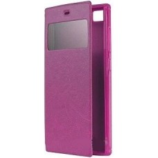 Чехол Book Cover Mobiking with Window Samsung G350 Pink