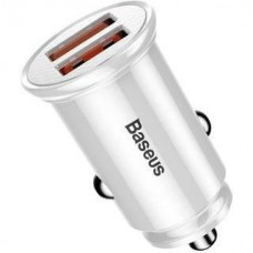 Baseus Usb Car Charger Mini Quick Charge 3.0 2xUSB White (CCALL-YD02)