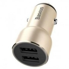 Baseus Usb Car Charger Adorkable 2xUSB 3.4A Gold (CCJR-0V)