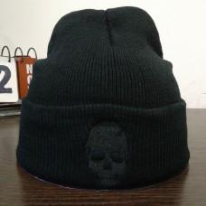 Шапка Skull Черный Череп Черная