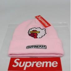 Стильная шапка Supreme / Суприм (унисекс) / Розовая