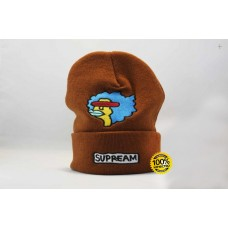 Стильная шапка Supreme / Суприм (унисекс) / Коричневый