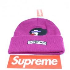 Стильная шапка Supreme / Суприм (унисекс) / Фиолетовый