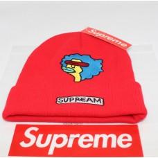 Стильная шапка Supreme / Суприм (унисекс) / Красный