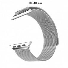 Ремешок Apple Watch 38 40 мм Milanese Loop миланская петля металлический