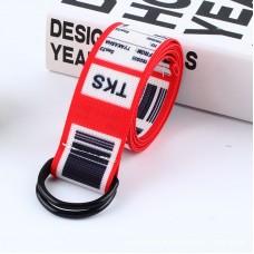 Ремень Пояс City-A TKS Штрих-код Belt 125 см Красный