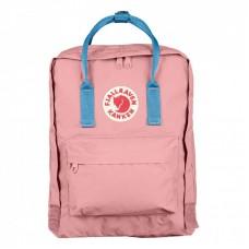 Городской Рюкзак Fjallraven Kanken 16л Classic Розовый с голубыми ручками