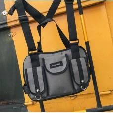 Нагрудная Поясная Сумка Бронежилет City-A Hgul+Bag Big Size Серый