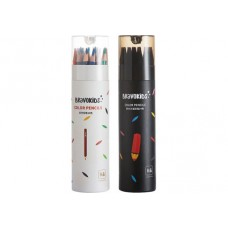 Набор цветных карандашей Xiaomi Bravokids 24 цвета 2 упаковки итого 48 штук (простые + водные)