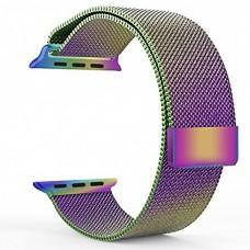 Ремешок Apple Watch 42 / 44 Milanese Loop Oil-rainbow миланская петля радуга