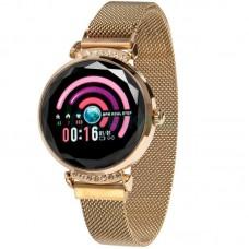 Фитнес-браслет Swarovski L12 умные часы золотистые