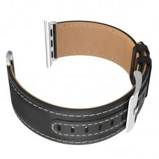 Кожаный ремешок для Apple Watch Series 4 40 мм черный - HOCO Duke series  WB04