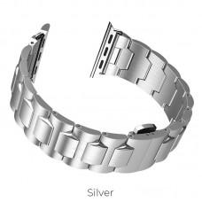 Браслет для Apple Watch 4 HOCO Grand Steel WB03 40mm серебристый