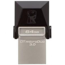 Гибридный накопитель 2 в 1 USB + microUSB Kingston 64Gb DT MicroDuo OTG