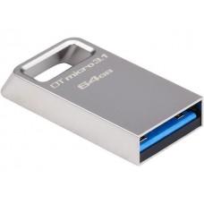 Металлический флеш диск USB 3.1 Kingston 64Gb DTMicro Type-A